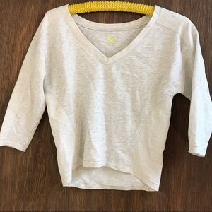 SO light gray top great condition XS